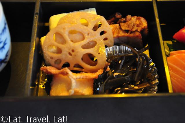 Tamago, Seaweed, Pork, Lotus Root, Dumpling