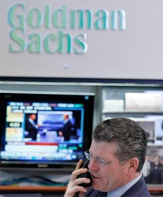 Stand de Goldman Sachs en Wall Street. / REUTERS