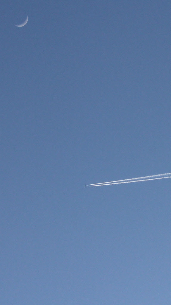 IMG_2519 - Plane, Moon and Venus in Daylight (5 PM)