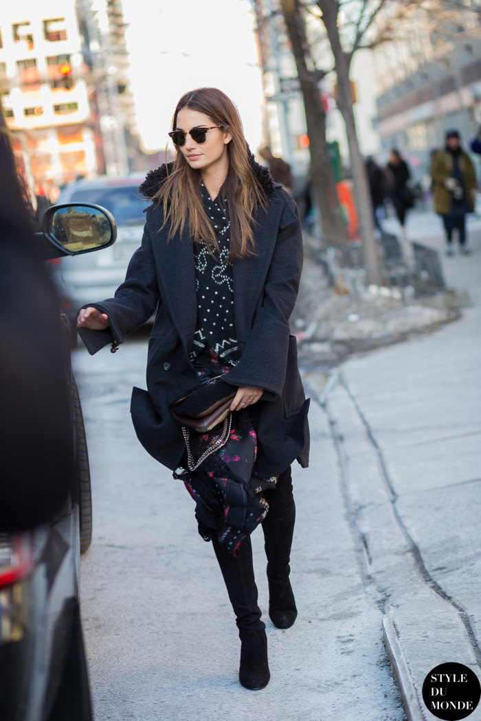 Lily Aldridge Street Style Street Fashion Streetsnaps by STYLEDUMONDE Street Style Fashion Blog
