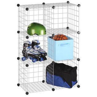 Honey-can-do 6 Pack Modular Mesh Storage Cube, Silver - Furniture ...