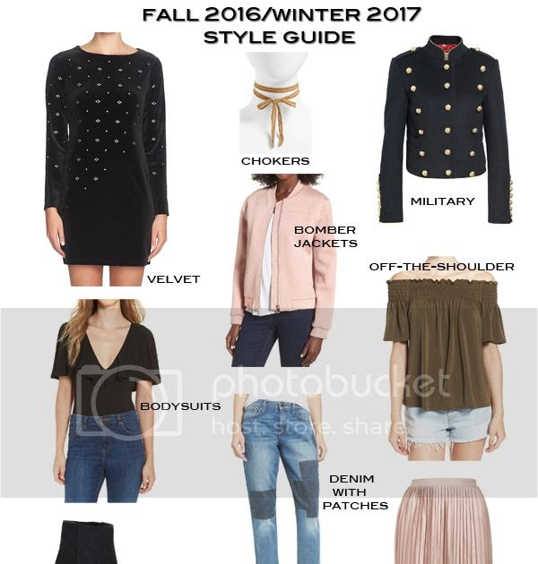 Fashion Trend Guide Fall 2016 Winter 2017 Fashion Trend Style Guide