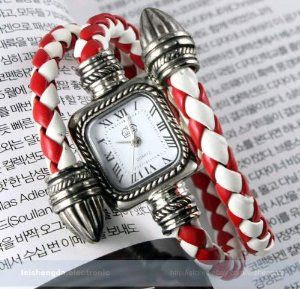 Lady Women Fashion Classical Extend Leathr Braided Strap Quartz Wrist Watch Gift by Gifts. $2.48. 100% Brand New   Alloy case & Stainless steel Back  Dimensions: Type?quartz Digital?analog Band Material: Synthetic leather Diameter?2.5cm approx  Thickness:0.7cm approx  Band Length:40cm approx (include case) Band Width: 0.6cm approx  Weight?30g approx    Components Included: 1x  Watch