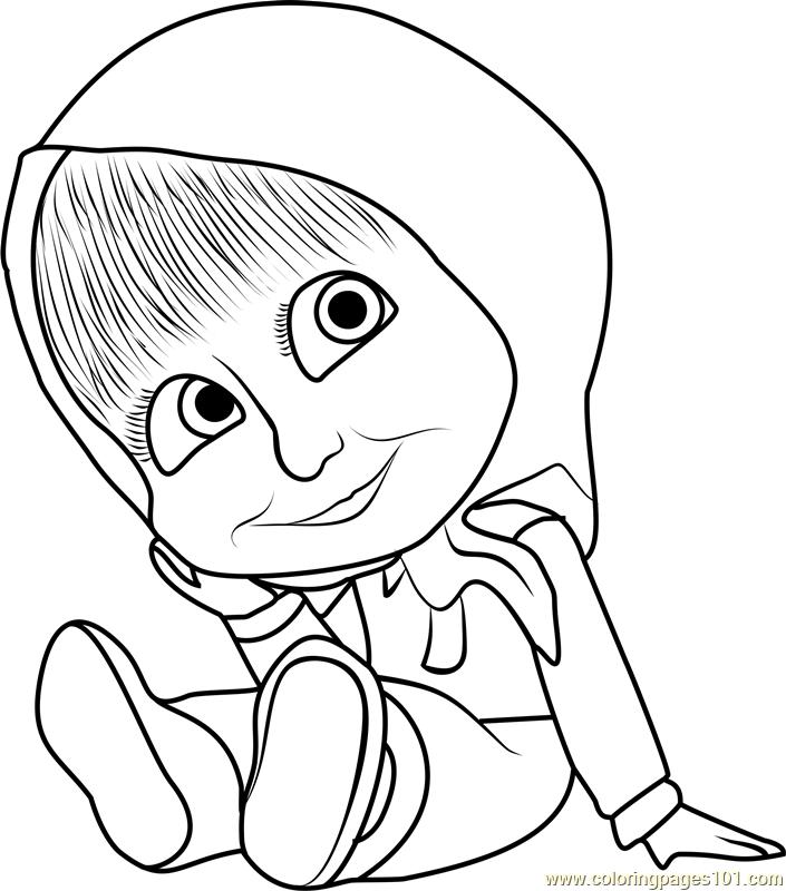 Masha Drawing At Getdrawingscom Free For Personal Use Masha