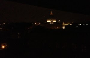 It is raining in Rome but the dome of St. Peter's Basilica still shines bright!