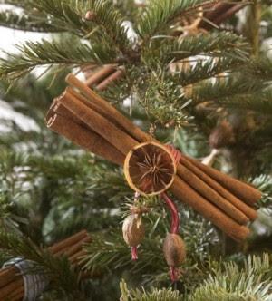 natale,decorazioni di natale,decorare l'albero con la cannella,pigne,come decorare l'albero di natale,albero di natale fai da te,