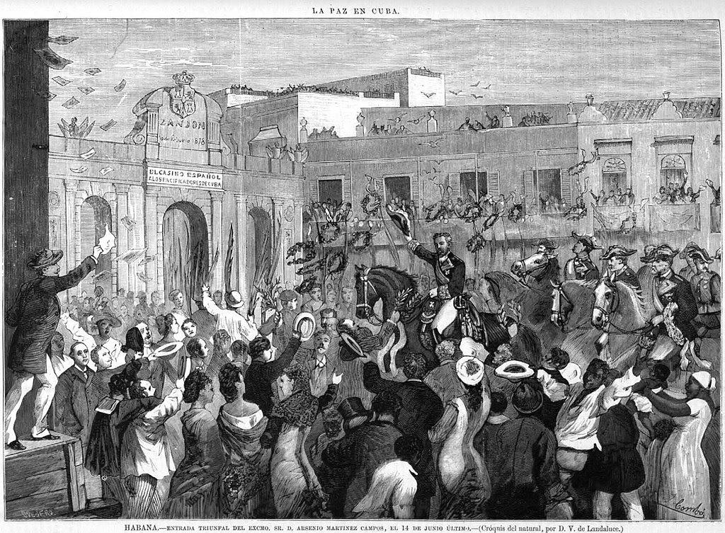 Entrada triunfal de Arsenio Martínez Campos en La Habana, 1878.jpg