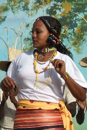 Kunama dancer - Festival Eritrea 2006 - Expo Asmara Eritrea.