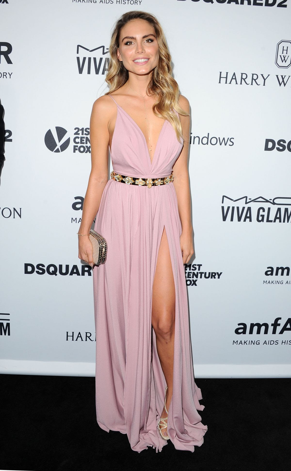 NINA SENICAR at amfAR's Inspiration Gala in Hollywood 10/29/2015