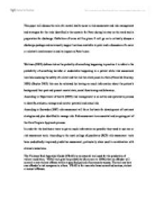 Risk Assessment In Mental Health Nursing University Miscellaneous Marked By Teachers Com