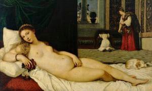 <Venus of Urbino> by Titian