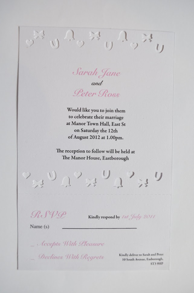 Confetti Laser Cut Wedding Invitation with Perforated RSVP Pack of 25