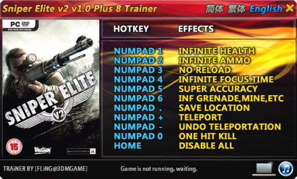 Image result for sniper elite v2 trainer fling