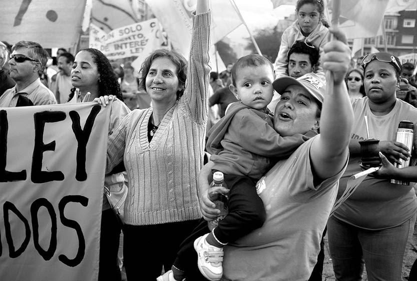 Movilización de Fucvam, ayer en el Palacio Legislativo. Foto: Pablo Vignali