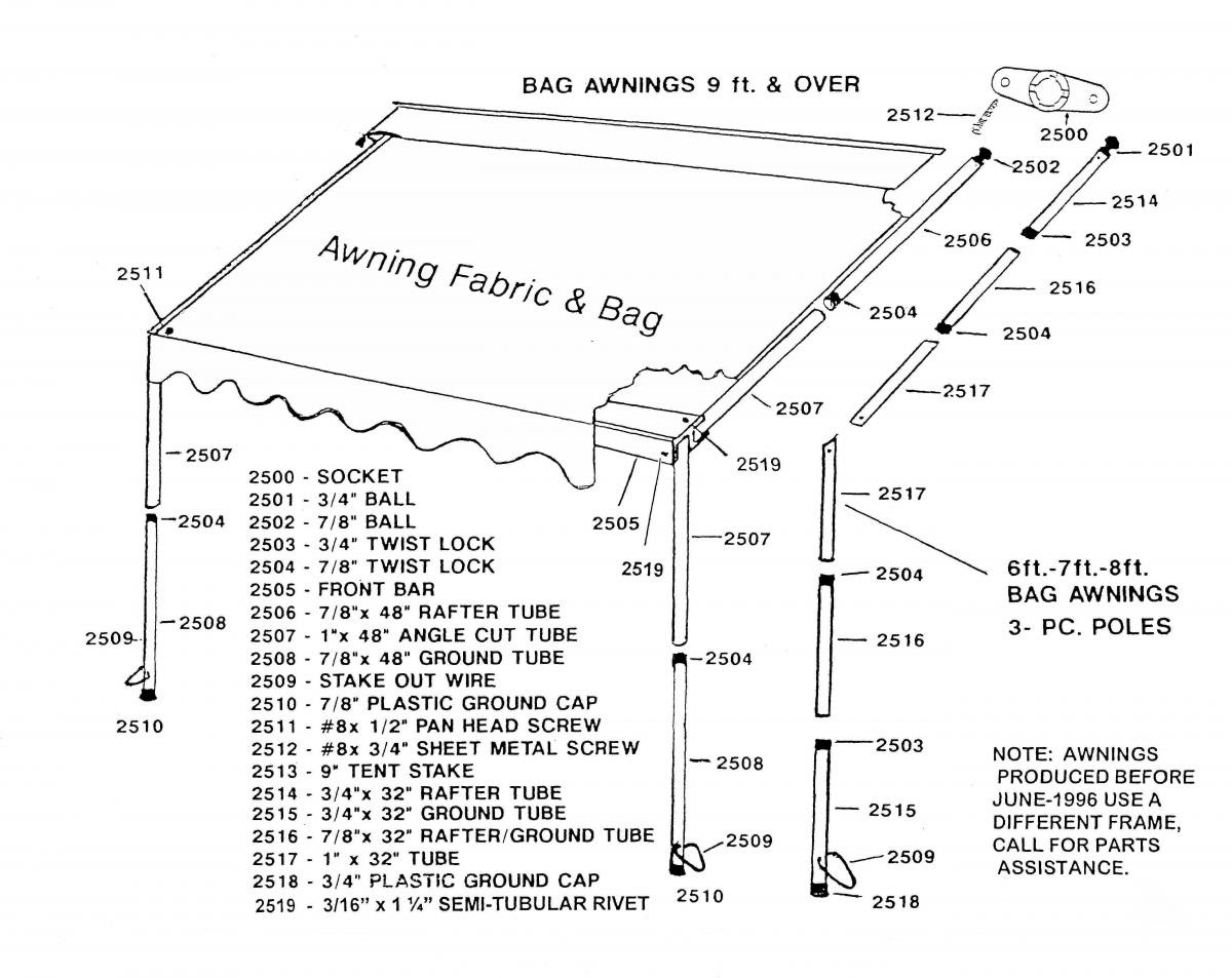 Rv Awning Parts Diagram