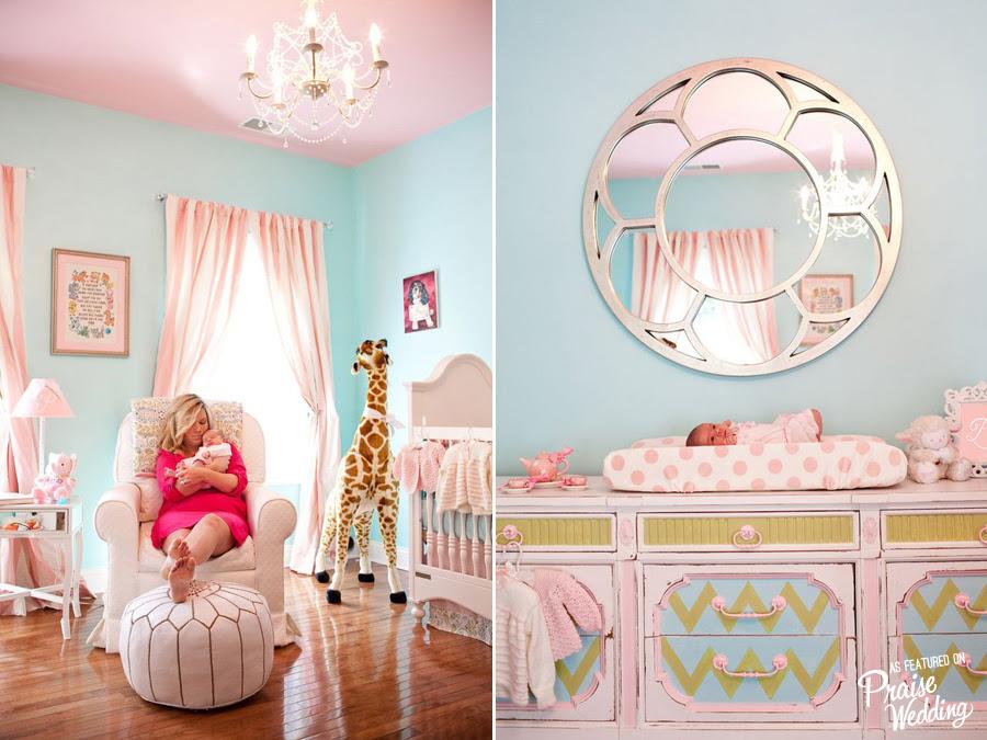 Sweet Baby Girl Pink X Blue Nursery Room Praise Wedding Community