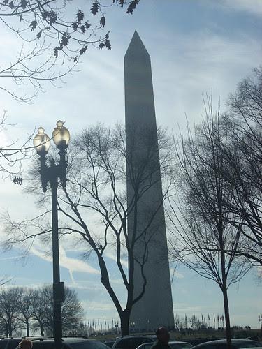 Washington monument close
