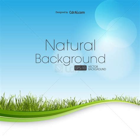 Nature background green grass waves vector download eps