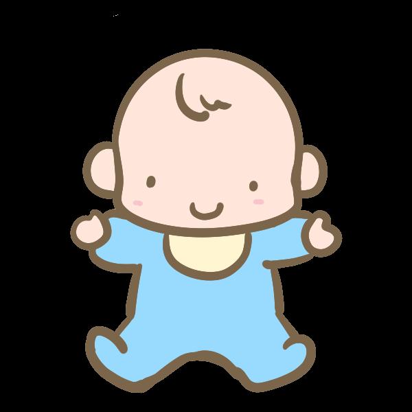 赤ちゃん男の子のイラスト かわいいフリー素材が無料のイラストレイン