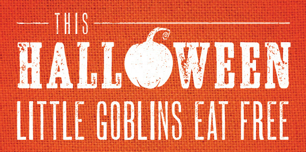 This Halloween Little Goblins Eat Free