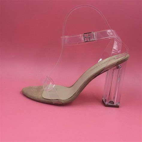 Plastic Clear Wedding Shoes Kim Kardashia 2016 Real Image