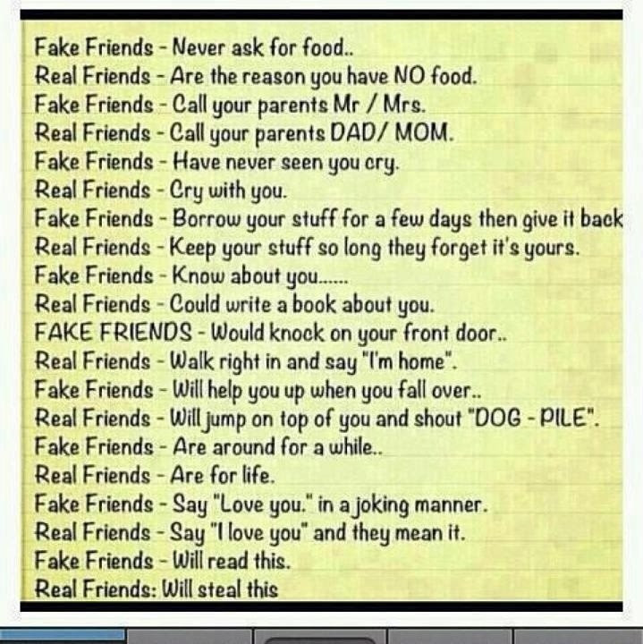 Fake Friends Vs Real Friends Quote Quote Number 573254 Picture
