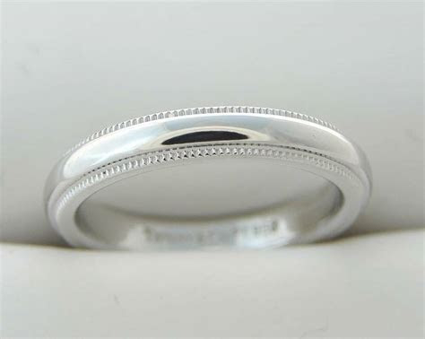 tiffany  platinum wedding band anniversary ring
