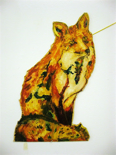 Close-up of the fox