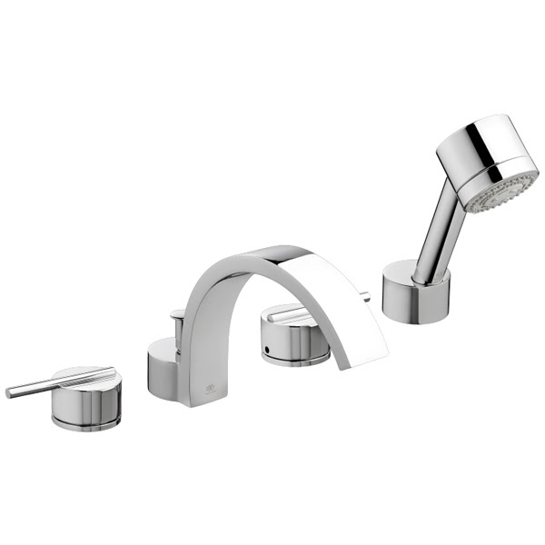 Tub Faucet Rem Deck Mount Tub Filler With Hand Shower From Dxv