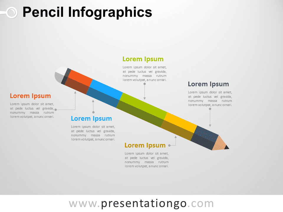 Pencil Infographics PowerPoint