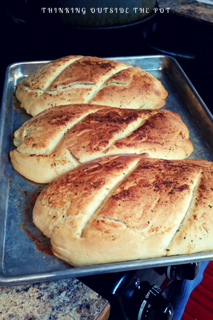 Homemade Garlic French Bread - Thinking Outside The Pot