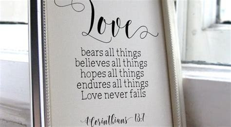 Wedding Quotes for the Bride and Groom, 1 Corinthians 13:7