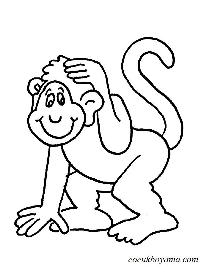 Maymun 30 ücretsiz Boyama Resimleri