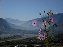 A view over the isolated Chitral Valley in north west Pakistan