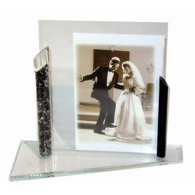 Jewish Wedding Gift Shardz Crushed Wedding Glass Picture Frame 8 X 10