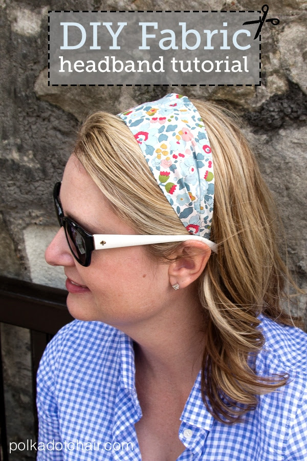 DIY Fabric Headband Tutorial by the Polka Dot Chair