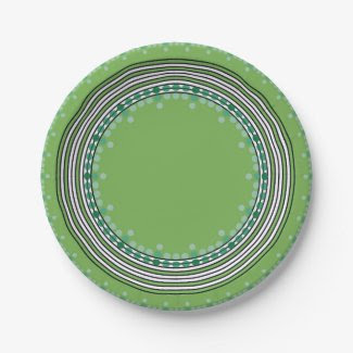 Paper Plates for Green Summer Dates 7 Inch Paper Plate