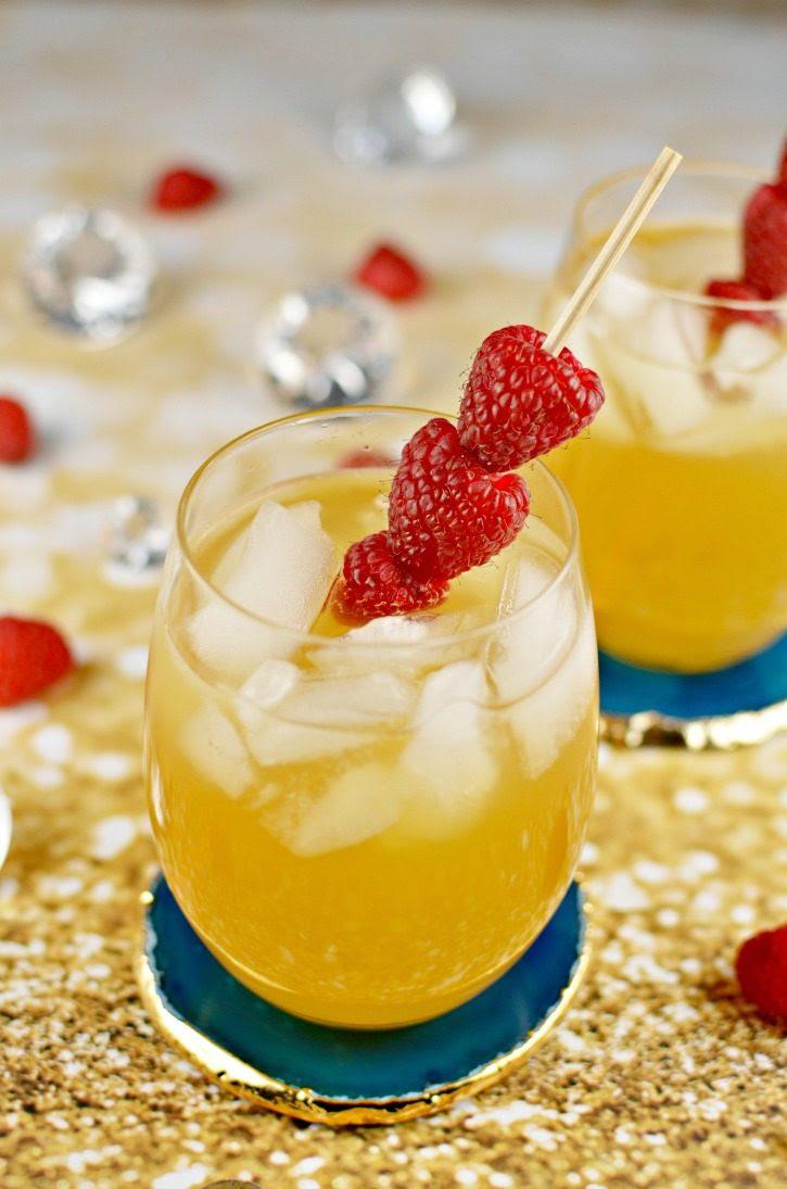 Raspberry Passion Fruit Kiss Cocktail with Smirnoff Raspberry Vodka