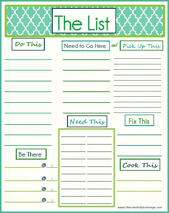 1000+ images about Printable To Do List on Pinterest | Blog topics ...