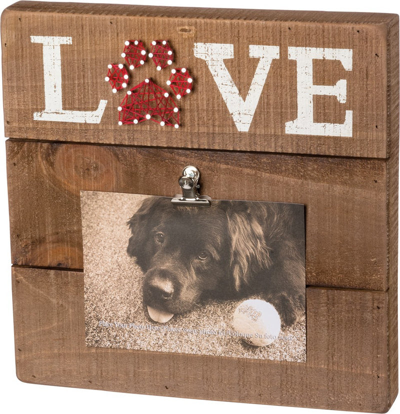Box Picture Frame With String Art Pet Love Dog Or Cat Home Decor