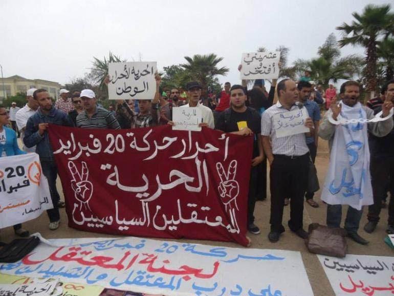 Manifestation devant le tribunal, mardi 6 mai.