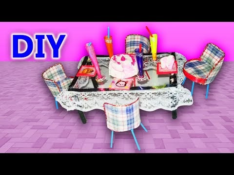 DIY Miniature Table & Chairs | Easy DIY Miniature Table & Chairs| How To...