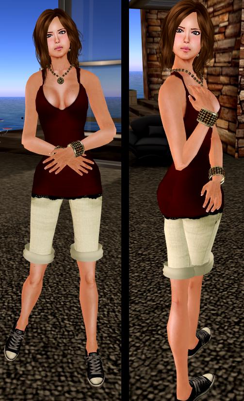 [ Cynful ] Summery Dress - Red & ChrizzpyShort - sunny