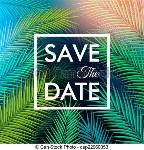 Clipart Vector of Save the date for your personal holiday