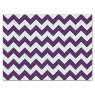"Purple and Light Blue Zigzag 17"" X 23"" Tissue Paper"