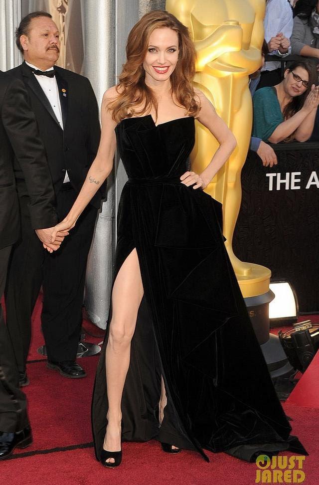 vestido de Versace de Angelina Jolie Oscar 2012