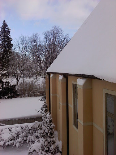 St: John's: the snow-covered roof