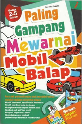 Buku Murah Paling Gampang Mewarnai Mobil Balap Anak Anak