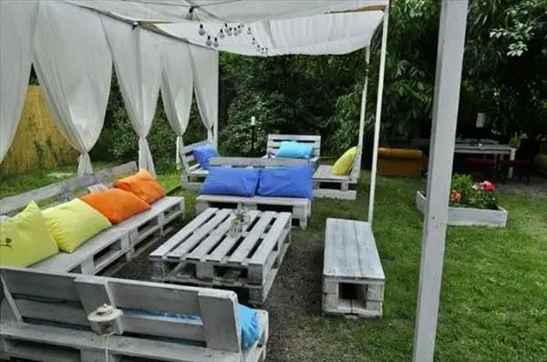 Muebles de palets para exteriores