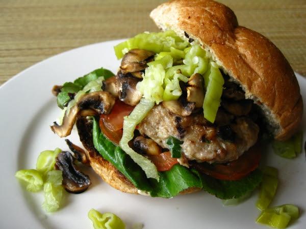 Greek Inspired Chicken Burgers